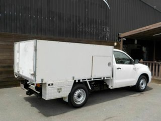 2008 Toyota Hilux GGN15R MY09 SR 4x2 White 5 Speed Automatic Cab Chassis