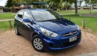 2016 Hyundai Accent RB3 MY16 Active Dazzling Blue 6 Speed Constant Variable Hatchback.