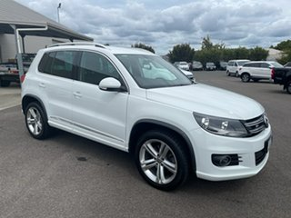 2016 Volkswagen Tiguan 5N MY16 155TSI DSG 4MOTION R-Line White 7 Speed Sports Automatic Dual Clutch.