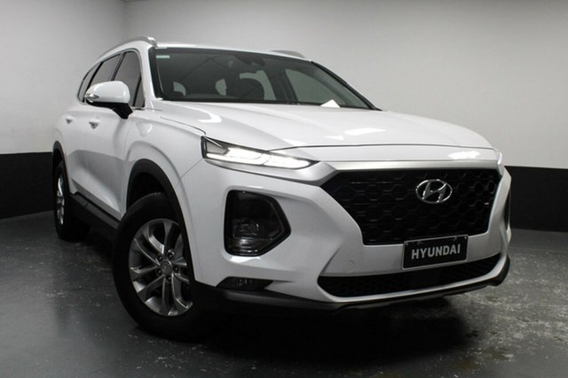 Used Hyundai Santa Fe TM MY19 Active Hamilton, 2018 Hyundai Santa Fe TM MY19 Active White 6 Speed Sports Automatic Wagon