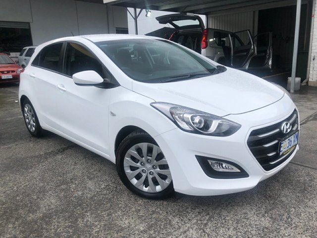 Used Hyundai i30 GD3 Series II MY16 Active Derwent Park, 2015 Hyundai i30 GD3 Series II MY16 Active Polar White 6 Speed Sports Automatic Hatchback