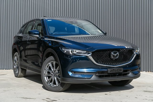 Demo Mazda CX-5 KF4WLA Akera SKYACTIV-Drive i-ACTIV AWD Mornington, 2020 Mazda CX-5 KF4WLA Akera SKYACTIV-Drive i-ACTIV AWD Deep Crystal Blue 6 Speed Sports Automatic