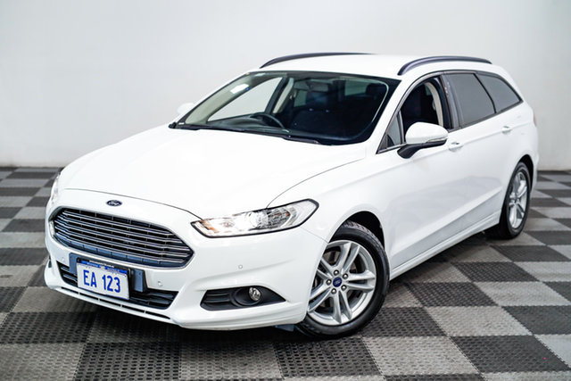 Used Ford Mondeo MD Ambiente Edgewater, 2016 Ford Mondeo MD Ambiente White 6 Speed Sports Automatic Dual Clutch Wagon
