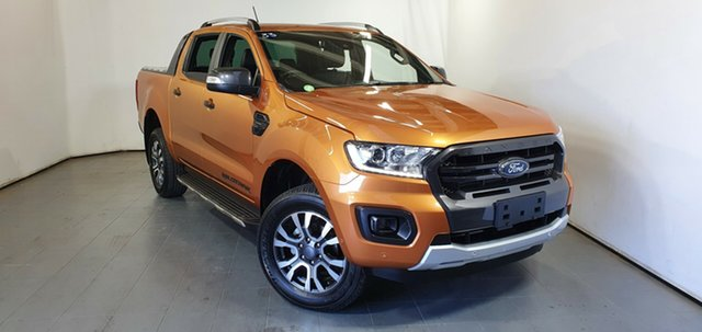 Used Ford Ranger PX MkIII 2019.00MY Wildtrak Elizabeth, 2019 Ford Ranger PX MkIII 2019.00MY Wildtrak Orange 10 Speed Sports Automatic Double Cab Pick Up