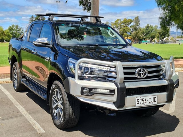 Used Toyota Hilux GUN126R SR5 Double Cab Nailsworth, 2016 Toyota Hilux GUN126R SR5 Double Cab Black 6 Speed Sports Automatic Utility