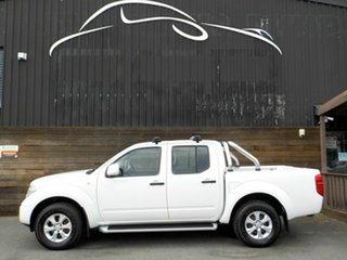 2013 Nissan Navara D40 S7 MY12 RX White 6 Speed Manual Utility
