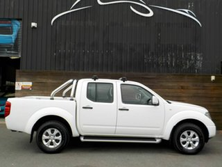 2013 Nissan Navara D40 S7 MY12 RX White 6 Speed Manual Utility.