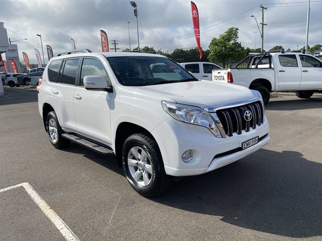 Pre-Owned Toyota Landcruiser Prado GDJ150R GXL Cardiff, 2015 Toyota Landcruiser Prado GDJ150R GXL White 6 Speed Sports Automatic Wagon