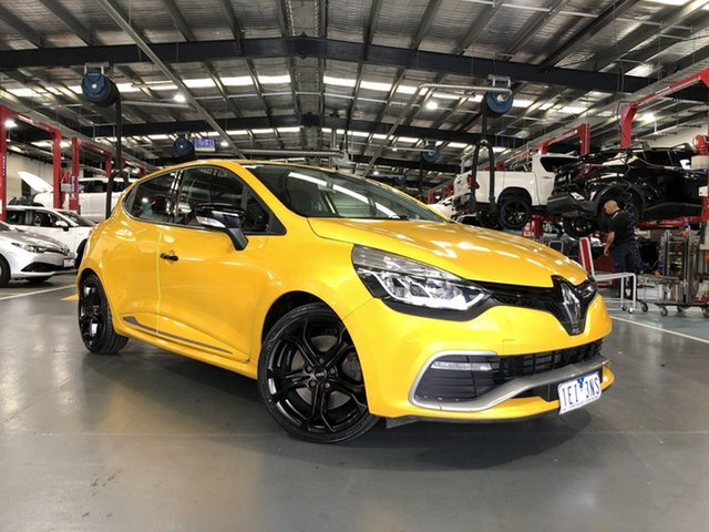Pre-Owned Renault Clio IV B98 R.S. 200 EDC Sport Oakleigh, 2014 Renault Clio IV B98 R.S. 200 EDC Sport Yellow 6 Speed Sports Automatic Dual Clutch Hatchback
