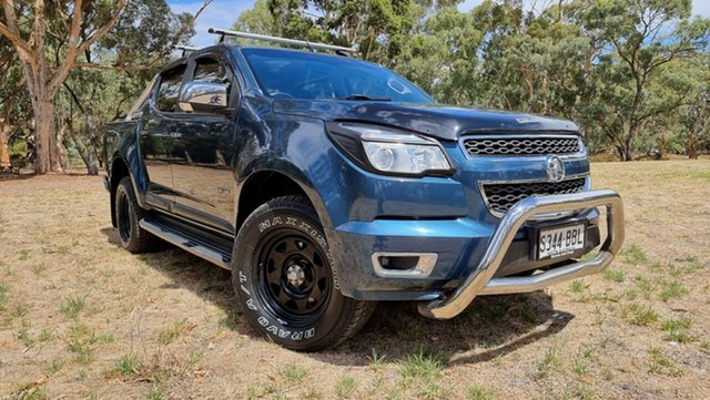 Used Holden Colorado RG MY14 LTZ Crew Cab Nuriootpa, 2014 Holden Colorado RG MY14 LTZ Crew Cab Blue 6 Speed Sports Automatic Utility