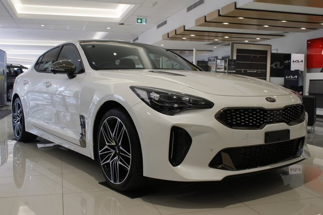 Demo Kia Stinger CK MY21 GT Fastback Toowoomba, 2020 Kia Stinger CK MY21 GT Fastback Snow White Pearl 8 Speed Sports Automatic Sedan