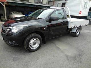 2017 Mazda BT-50 MY16 XT (4x2) Black 6 Speed Manual Cab Chassis.