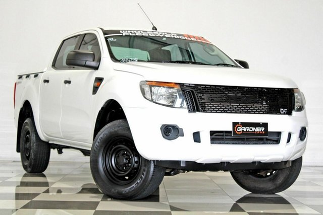 Used Ford Ranger PX XL 2.2 Hi-Rider (4x2) Burleigh Heads, 2012 Ford Ranger PX XL 2.2 Hi-Rider (4x2) White 6 Speed Automatic Crew Cab Pickup