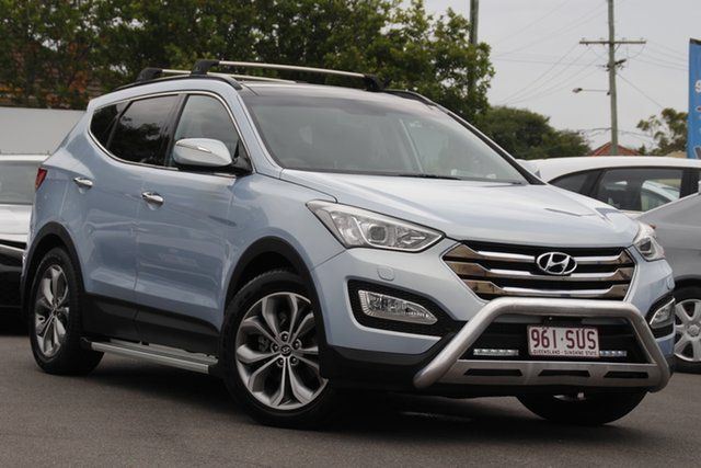 Used Hyundai Santa Fe DM MY13 Highlander Mount Gravatt, 2012 Hyundai Santa Fe DM MY13 Highlander Blue 6 Speed Sports Automatic Wagon