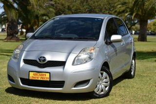 2010 Toyota Yaris NCP90R MY10 YR Silver 4 Speed Automatic Hatchback.