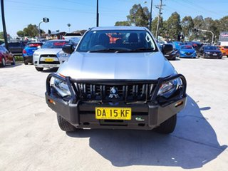 2017 Mitsubishi Triton MQ MY17 GLX Double Cab Silver, Chrome 6 Speed Manual Utility