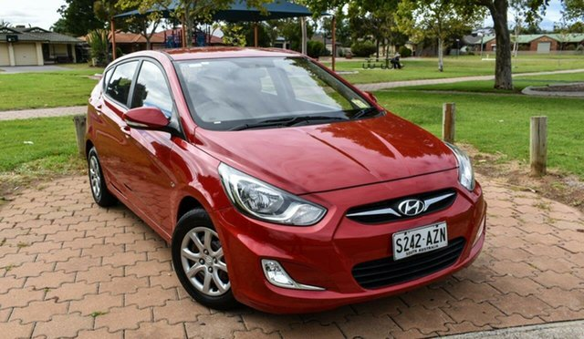 Used Hyundai Accent RB Active Ingle Farm, 2011 Hyundai Accent RB Active Red 5 Speed Manual Hatchback