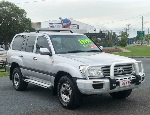 Used Toyota Landcruiser UZJ100R GXL Archerfield, 2005 Toyota Landcruiser UZJ100R GXL Silver 5 Speed Automatic Wagon