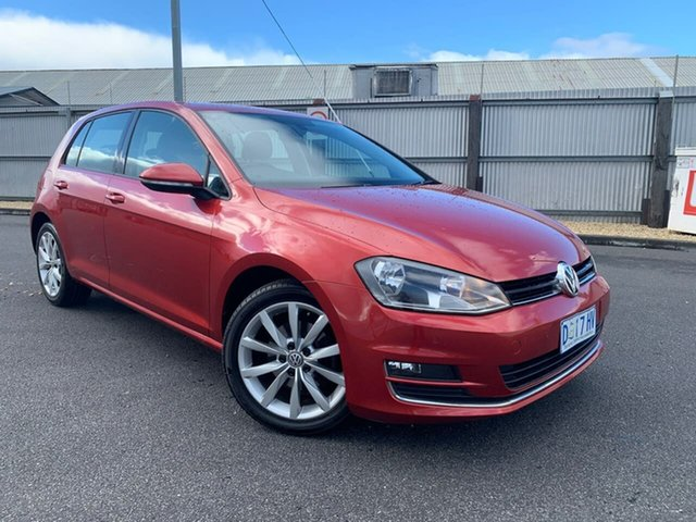 Used Volkswagen Golf VII 110TDI DSG Highline Moonah, 2013 Volkswagen Golf VII 110TDI DSG Highline Red 6 Speed Sports Automatic Dual Clutch Hatchback