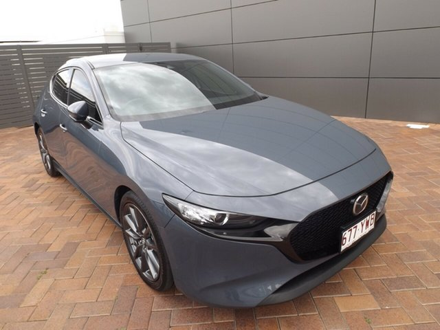 Used Mazda 3 BP2HL6 G25 SKYACTIV-MT GT Toowoomba, 2019 Mazda 3 BP2HL6 G25 SKYACTIV-MT GT Polymetal Grey 6 Speed Manual Hatchback