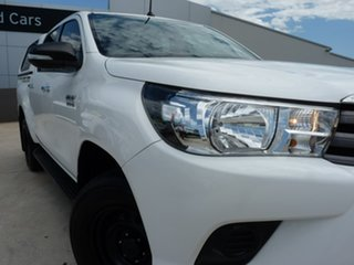 2016 Toyota Hilux GUN126R SR Double Cab Glacier White 6 Speed Sports Automatic Utility
