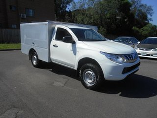 2015 Mitsubishi Triton MQ MY16 GLX White 6 Speed Manual Cab Chassis.