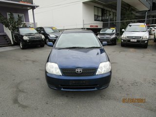 2003 Toyota Corolla ZZE122R Ascent Seca Blue 5 Speed Manual Hatchback.