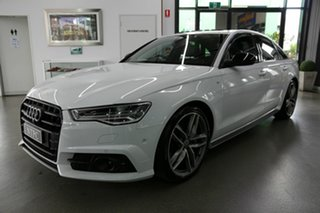 2017 Audi A6 4G MY18 Black Edition S tronic qu White 7 Speed Auto Sportshift Sedan
