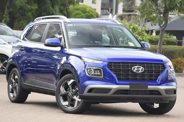 New Hyundai Venue QX.V3 MY21 Active Ravenhall, 2020 Hyundai Venue QX.V3 MY21 Active Intense Blue 6 Speed Automatic Wagon