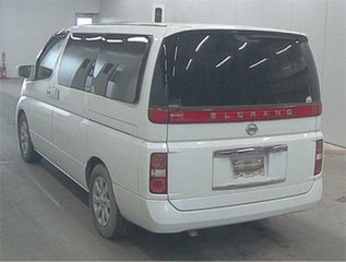 2004 Nissan Elgrand E51 XL White Automatic Wagon.