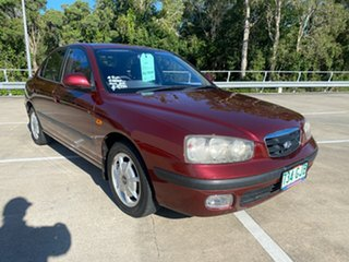 2000 Hyundai Elantra XD GLS Maroon 4 Speed Automatic Sedan.