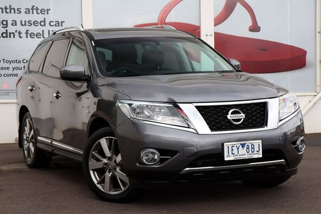 Pre-Owned Nissan Pathfinder R52 MY15 Ti X-tronic 4WD Ferntree Gully, 2015 Nissan Pathfinder R52 MY15 Ti X-tronic 4WD Grey 1 Speed Constant Variable Wagon