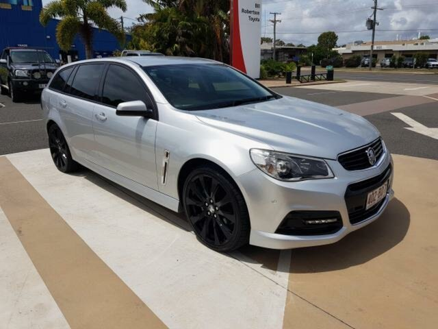 Pre-Owned Holden Commodore VF II MY16 SV6 Sportwagon Gladstone, 2015 Holden Commodore VF II MY16 SV6 Sportwagon Silver 6 Speed Sports Automatic Wagon