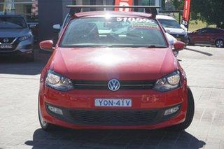 2012 Volkswagen Polo 6R MY12.5 77TSI Comfortline Red 6 Speed Manual Hatchback.