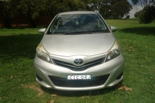 2012 Toyota Yaris NCP130R YR Silver 4 Speed Automatic Hatchback.