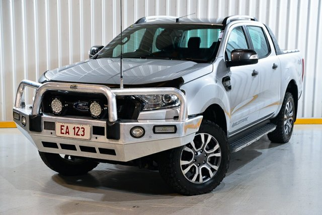 Used Ford Ranger PX MkII Wildtrak Double Cab Hendra, 2017 Ford Ranger PX MkII Wildtrak Double Cab Silver 6 Speed Sports Automatic Utility