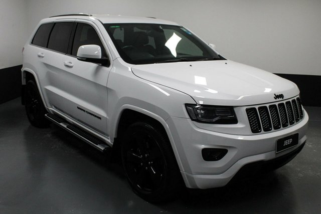 Used Jeep Grand Cherokee WK MY2014 Blackhawk Hamilton, 2014 Jeep Grand Cherokee WK MY2014 Blackhawk White 8 Speed Sports Automatic Wagon