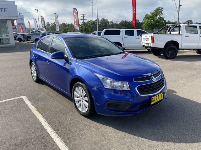 Used Holden Cruze JH Series II MY16 Equipe Cardiff, 2016 Holden Cruze JH Series II MY16 Equipe Blue 6 Speed Sports Automatic Hatchback