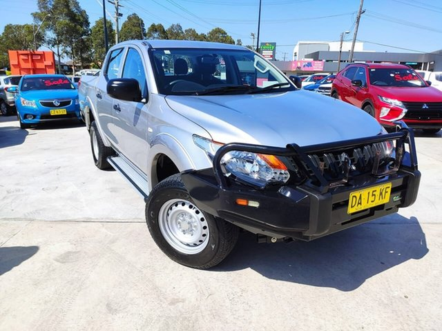 Used Mitsubishi Triton MQ MY17 GLS Double Cab Liverpool, 2017 Mitsubishi Triton MQ MY17 GLS Double Cab Silver, Chrome 6 Speed Manual Utility