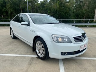 2008 Holden Statesman WM MY08 V6 White 5 Speed Auto Active Select Sedan.