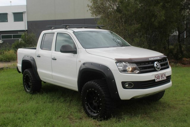 Used Volkswagen Amarok 2H MY15 TDI400 4Mot Trendline Ormeau, 2015 Volkswagen Amarok 2H MY15 TDI400 4Mot Trendline White 6 Speed Manual Cab Chassis