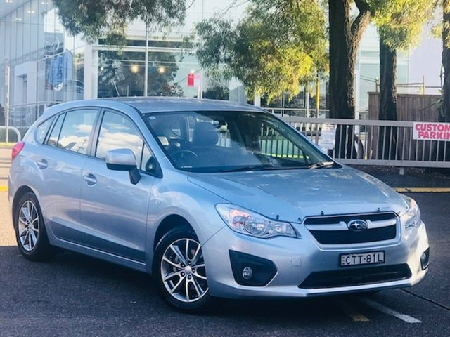 Used Subaru Impreza G4 MY14 2.0i Lineartronic AWD Luxury Liverpool, 2014 Subaru Impreza G4 MY14 2.0i Lineartronic AWD Luxury Silver, Chrome 6 Speed Constant Variable