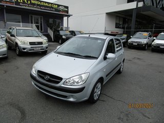 2010 Hyundai Getz TB MY09 SX Silver 4 Speed Automatic Hatchback.