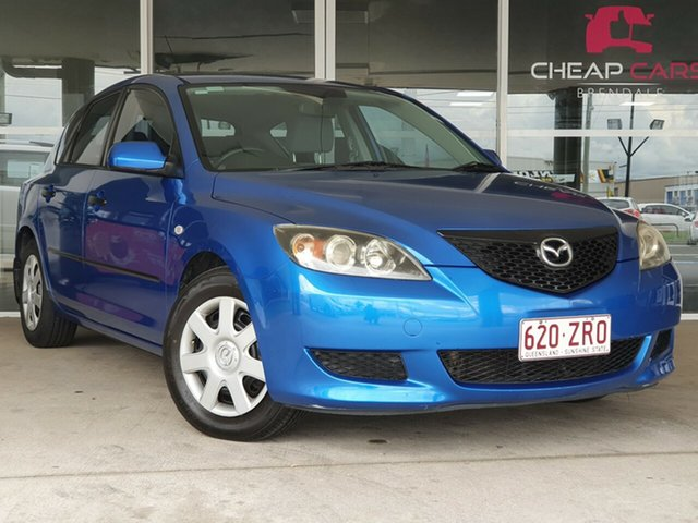 Used Mazda 3 BK10F1 Neo Brendale, 2005 Mazda 3 BK10F1 Neo Blue 5 Speed Manual Hatchback