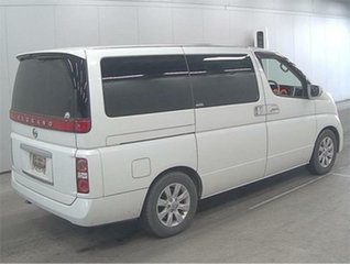 2004 Nissan Elgrand E51 XL White Automatic Wagon