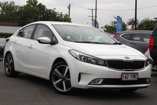 2016 Kia Cerato YD MY17 SLi White 6 Speed Sports Automatic Hatchback.