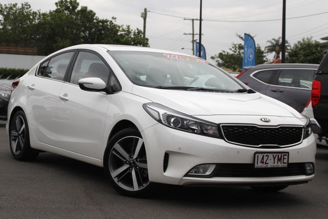 Used Kia Cerato YD MY17 SLi Mount Gravatt, 2016 Kia Cerato YD MY17 SLi White 6 Speed Sports Automatic Hatchback