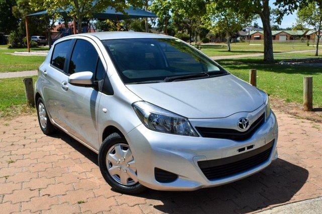 Used Toyota Yaris NCP130R YR Ingle Farm, 2013 Toyota Yaris NCP130R YR Silver 4 Speed Automatic Hatchback