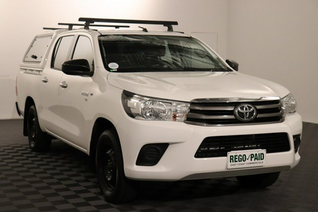 Used Toyota Hilux GGN120R SR Double Cab 4x2 Acacia Ridge, 2016 Toyota Hilux GGN120R SR Double Cab 4x2 Glacier 6 speed Automatic Utility