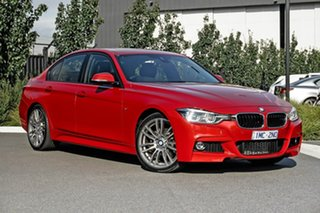 2018 BMW 3 Series F30 LCI 318i Sport Line Red 8 Speed Sports Automatic Sedan.